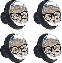 Kitchen Cabinet Knobs - Cat with Eyes - Knobs for