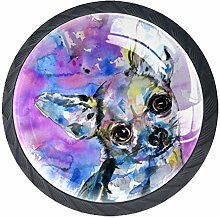 Kitchen Cabinet Knobs - Chihuahua Watercolor
