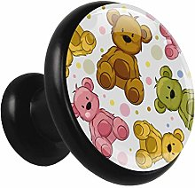 Kitchen Cabinet Knobs Cute Cartoon Bear Wardrobe