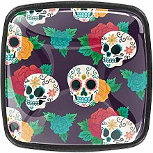 Kitchen Cabinet Knobs - Dead with Sugar Skull and