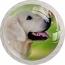 Kitchen Cabinet Knobs - Dog with Butterfly - Knobs