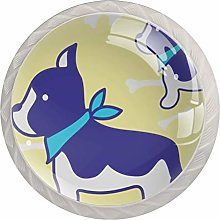 Kitchen Cabinet Knobs - Dog Yellow Backgroud -