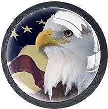 Kitchen Cabinet Knobs - Eagle with American Flag