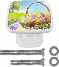 Kitchen Cabinet Knobs - Easter Eggs On Basket -