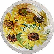 Kitchen Cabinet Knobs - flowerArt Yellow - Knobs