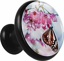 Kitchen Cabinet Knobs Flowers and Butterflies
