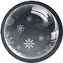 Kitchen Cabinet Knobs - Gray Snowflake - Knobs for
