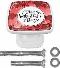 Kitchen Cabinet Knobs - Happy Valentine's