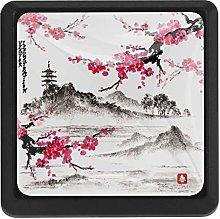 Kitchen Cabinet Knobs - Landscape with Sakura