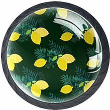 Kitchen Cabinet Knobs - Lemon with Leaves - Knobs