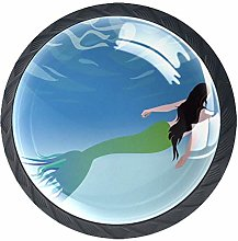 Kitchen Cabinet Knobs - Mermaid - Knobs for