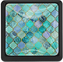 Kitchen Cabinet Knobs - Mermaid Turquoise Green