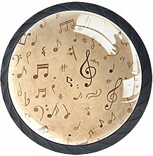 Kitchen Cabinet Knobs - Music Notes - Knobs for