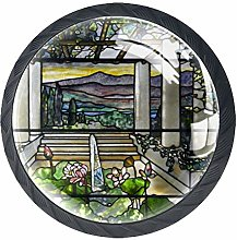 Kitchen Cabinet Knobs - Nature Art Painting -