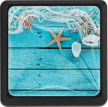 Kitchen Cabinet Knobs - Nautical Border Sea Fish