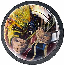 Kitchen Cabinet Knobs - Oil Painting Guitar -