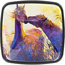 Kitchen Cabinet Knobs - Oil Painting Horses -