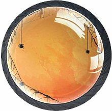 Kitchen Cabinet Knobs - Orange Cobweb - Knobs for