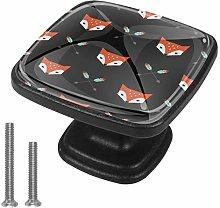 Kitchen Cabinet Knobs - Orange Fox Arrow - Knobs