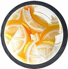 Kitchen Cabinet Knobs - Orange Fruit Background -