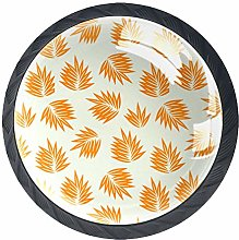 Kitchen Cabinet Knobs - Orange Surf Leaf - Knobs