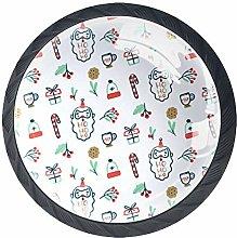 Kitchen Cabinet Knobs - Pattern with Santa Gift -