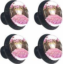 Kitchen Cabinet Knobs - Pink Cherry Tree - Knobs