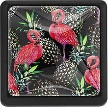 Kitchen Cabinet Knobs - Pink Flamingo Fruit -