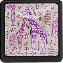 Kitchen Cabinet Knobs - Pink Giraffe - Knobs for