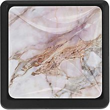 Kitchen Cabinet Knobs - Pink Marble - Knobs for