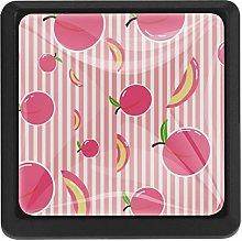 Kitchen Cabinet Knobs - Pink peachs tripes - Knobs