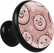 Kitchen Cabinet Knobs Pink Pig Head Wardrobe Knobs