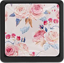 Kitchen Cabinet Knobs - Pink Rose(83) - Knobs for