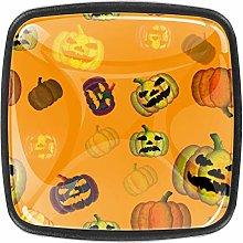 Kitchen Cabinet Knobs - Pumpkin Yellow Background