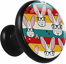 Kitchen Cabinet Knobs Rabbit Head Glasses Wardrobe