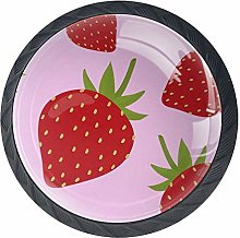 Kitchen Cabinet Knobs - Red Strawberry - Knobs for