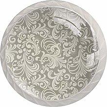 Kitchen Cabinet Knobs - Round Ringed Drawer