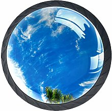 Kitchen Cabinet Knobs Round,Tropical Mood Palm