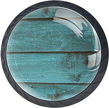 Kitchen Cabinet Knobs - Rustic Distressed Teal