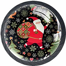 Kitchen Cabinet Knobs - Santa with Gift Package -