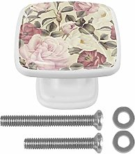 Kitchen Cabinet Knobs - Square Ringed Drawer
