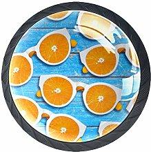 Kitchen Cabinet Knobs - Summer Glasses Orange -
