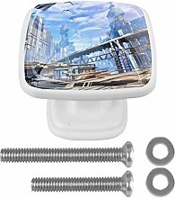 Kitchen Cabinet Knobs - Tall Buildings - Knobs for