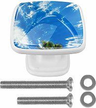Kitchen Cabinet Knobs - Tropical Mood Palm Trees