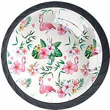 Kitchen Cabinet Knobs - Tropical Pink Flamingo -