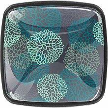 Kitchen Cabinet Knobs - Turquoise Dahlia - Knobs