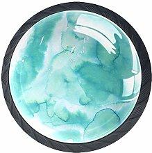 Kitchen Cabinet Knobs - Turquoise Green Summer Art