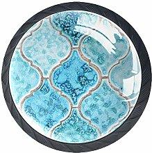 Kitchen Cabinet Knobs - Turquoise Pattern Art