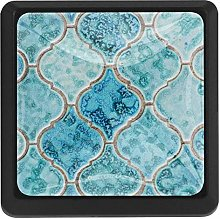 Kitchen Cabinet Knobs - Turquoise Pattern Retro