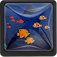 Kitchen Cabinet Knobs - Underwater with Colorful